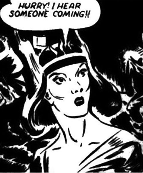 Nelvana of the Northern Light (Canadian whites Triumph comics) face closeup cheekbones