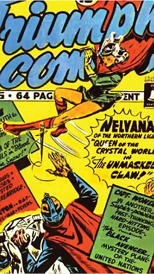 Nelvana of the Northern Light (Canadian whites Triumph comics) color cover detail