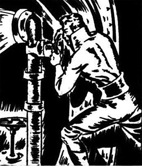 Nelvana of the Northern Light (Canadian whites Triumph comics) - Tanero turns a valve