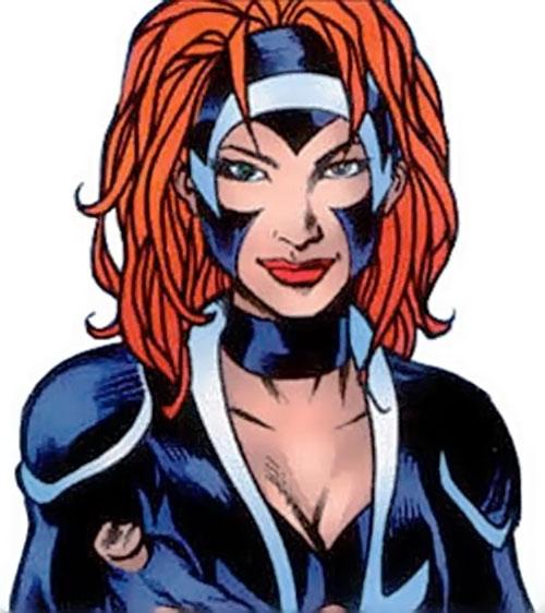 Nemesis (Soseh Mykros) (JSA character) (DC Comics) face closeup
