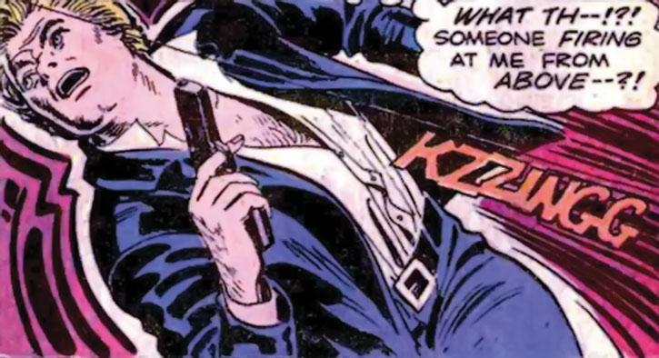 Nemesis (Thomas Tresser) draws his pistol