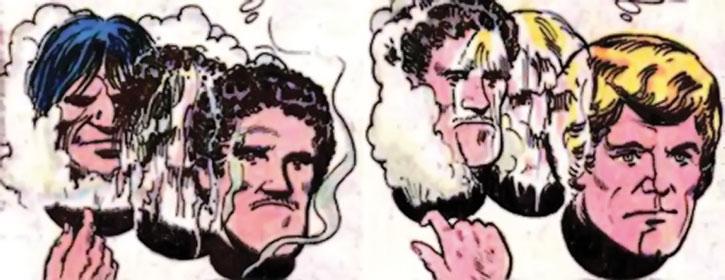 Nemesis (Thomas Tresser) with multiple masks on