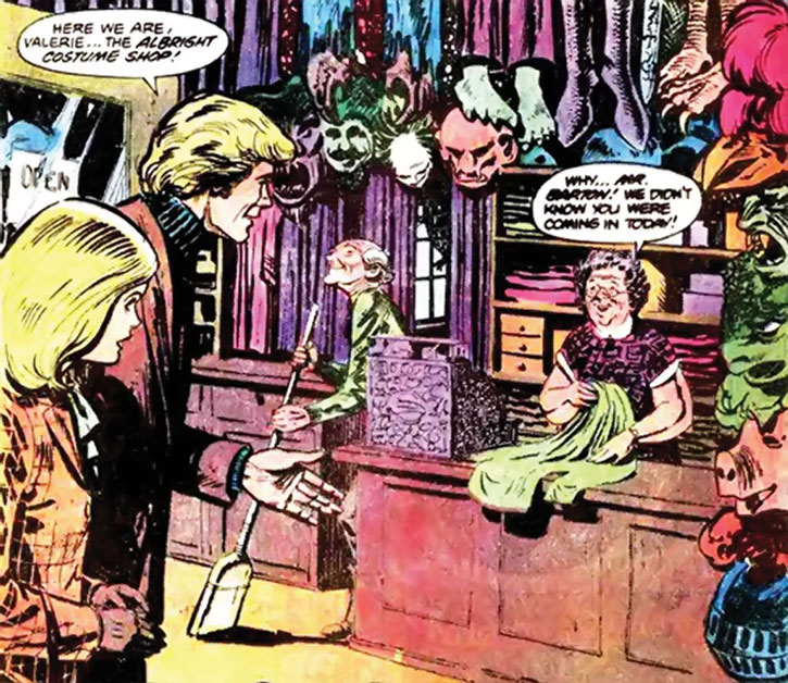 Nemesis (Thomas Tresser) in his costume shop