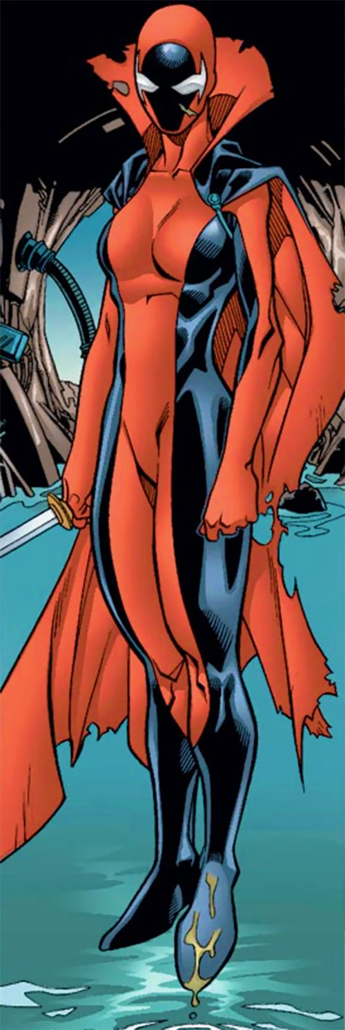 Nemesis (Alpha Flight character) (Marvel Comics) floating above water