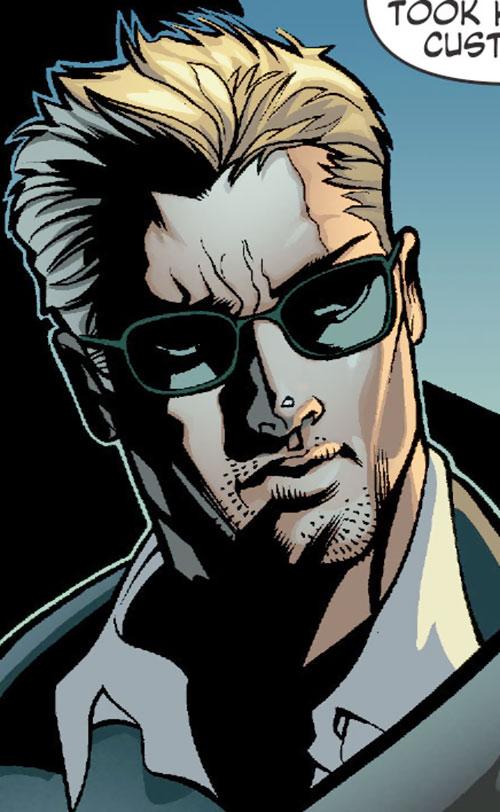 Nemesis (Wonder Woman ally) (DC Comics) face closeup with sunglasses