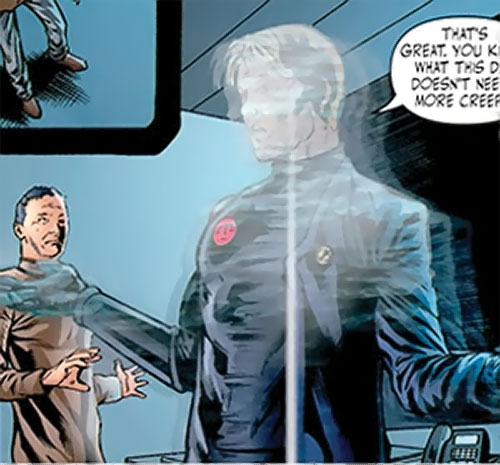 Nemesis (Wonder Woman ally) (DC Comics) shedding his illusory disguise