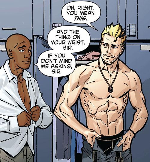 Nemesis (Wonder Woman ally) (DC Comics) bare chested