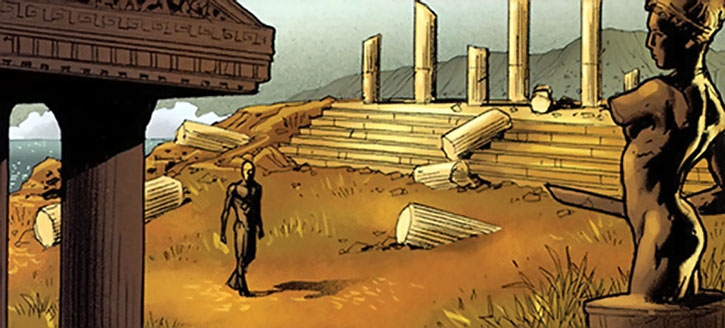 Nemesis (Thomas Tresser) dreams of Themyscira