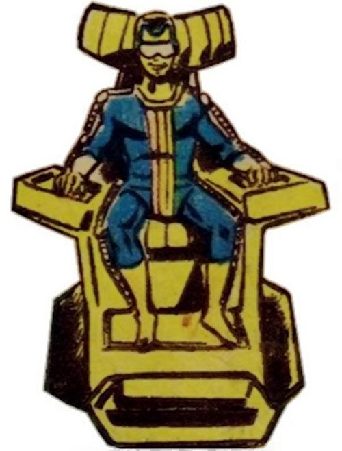 Neutrax of the League of Super-Assassins (DC Comics) smirking