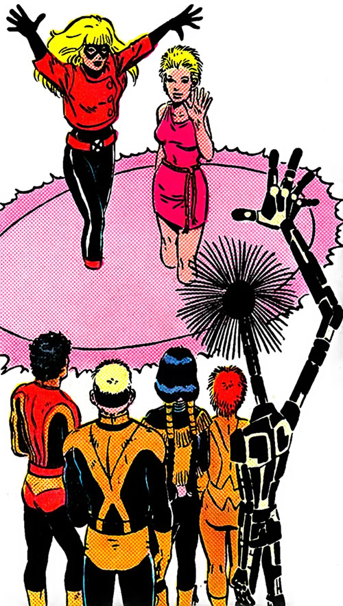 New Mutants (Marvel Comics) classic era - team, and Magik teleporting away