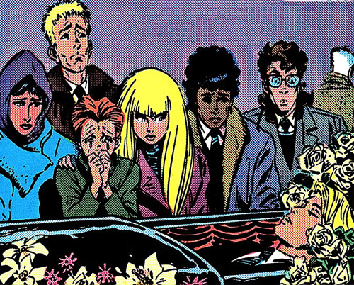 New Mutants (Marvel Comics) classic era - Cypher buried
