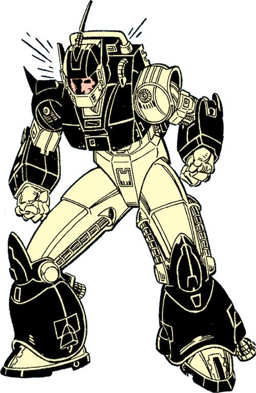New Mutants (Marvel Comics) classic era - Cypher and Warlock power armor