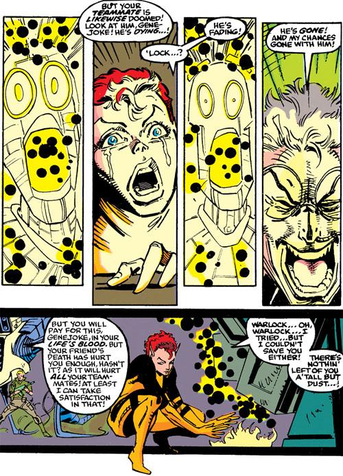 New Mutants (Marvel Comics) classic era - Warlock destroyed