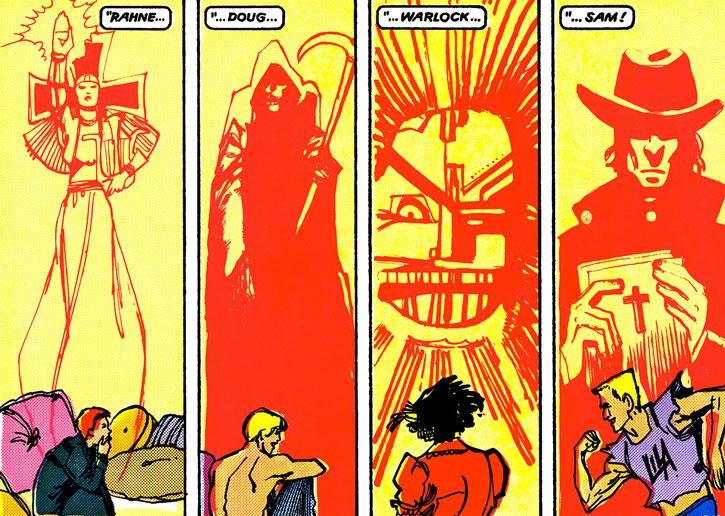New Mutants (Marvel Comics) classic era - Mirage's visions