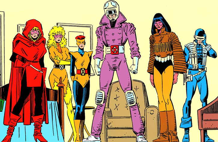 New Mutants (Marvel Comics) classic era - early individual costumes