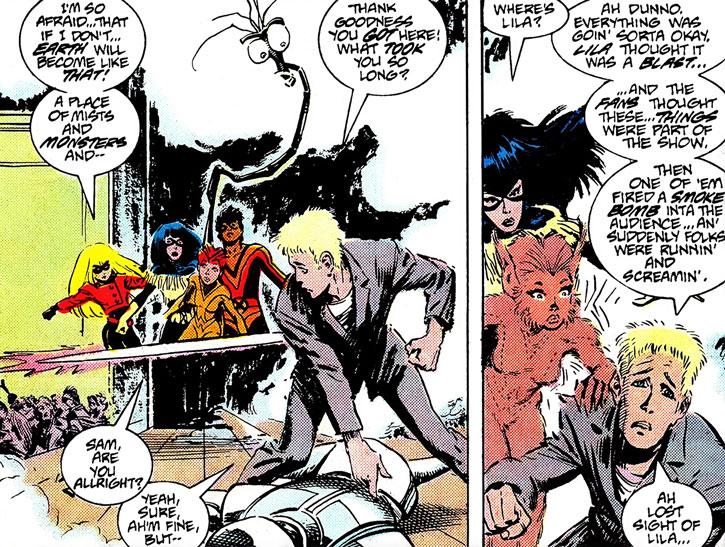 New Mutants (Marvel Comics) classic era - Lila Cheney concert trouble