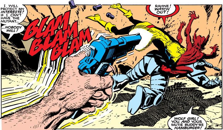 New Mutants (Marvel Comics) classic era - Cypher killed gunned down