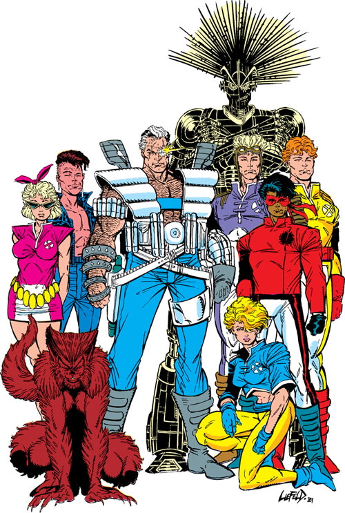 New Mutants (Marvel Comics) classic era - team with Cable