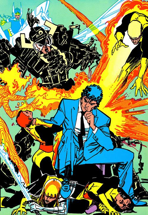 New Mutants (Marvel Comics) classic era - fighting Beyonder Secret Wars