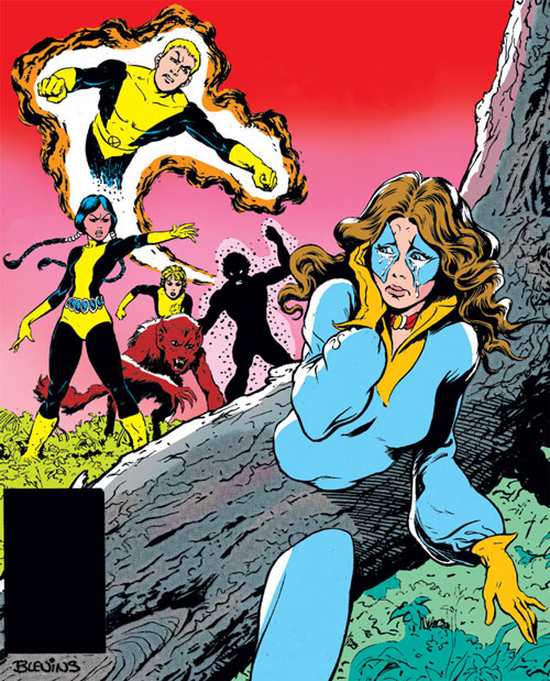 New Mutants (Marvel Comics) (Team profile #1) - chasing Kitty pryde