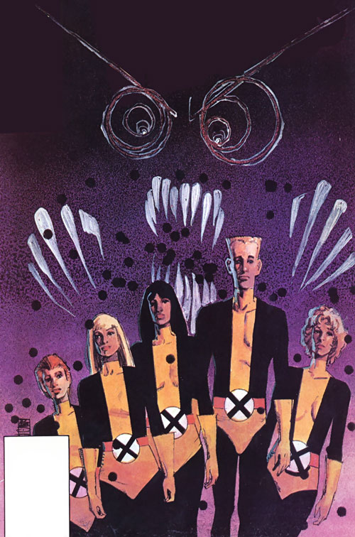 New Mutants (Marvel Comics) (Team profile #1) - threatened by the Bear Spirit