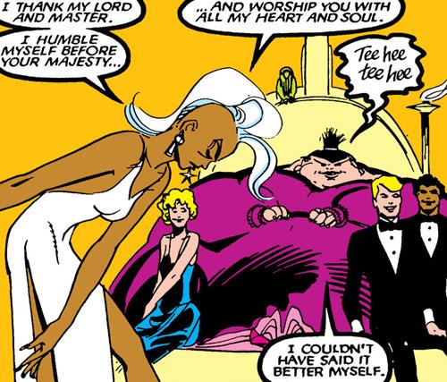 New Mutants (Marvel Comics) (Team profile #1) - Shadow King controlling Storm