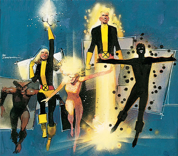 New Mutants (Marvel Comics) (Team profile #1) by Sienkewicz