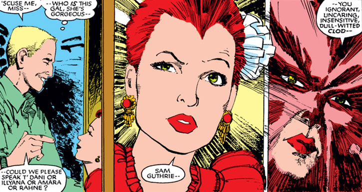 New Mutants (Marvel Comics) (Team profile #1) - Sam and a dolled up Rahne