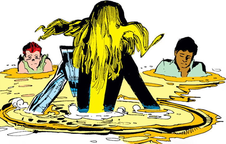 New Mutants (Marvel Comics) (Team profile #1) - Magick teleporting Rahne and Roberto