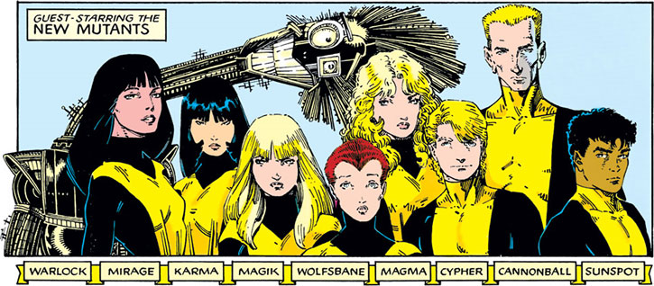 New Mutants (Marvel Comics) (Team profile #1) by Arthur Adams