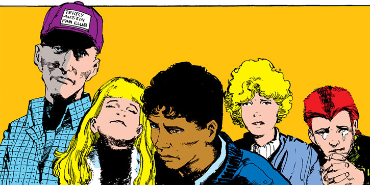 New Mutants (Marvel Comics) (Team profile #1) - the group is sad