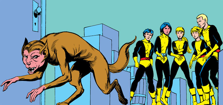 New Mutants (Marvel Comics) (Team profile #1) - Wolfsbane and the group