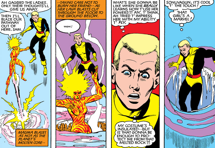 New Mutants (Marvel Comics) (Team profile #1) - Cannonball and Magma