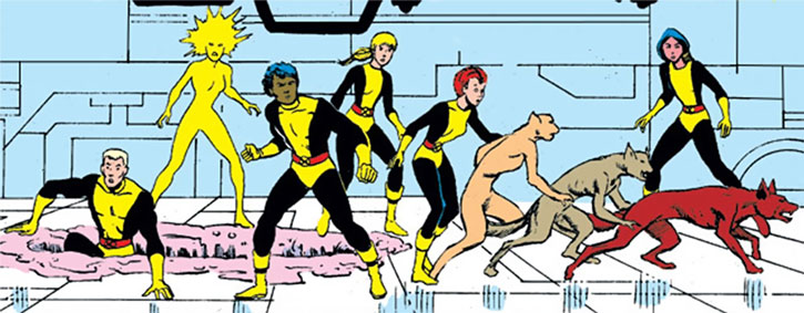 New Mutants (Marvel Comics) (Team profile #1) - the team in an enemy base
