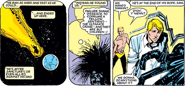 New Mutants (Marvel Comics) (Team profile #1) - Warlock arrives on Earth