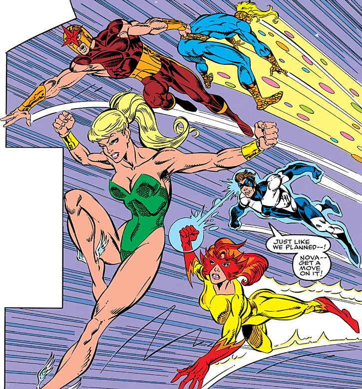 New Warriors - Marvel Comics - Team- Into action
