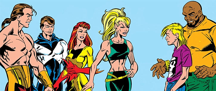Marvel Comics' earliest new Warriors without their masks