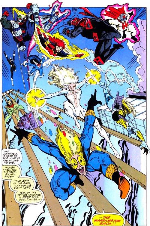New Warriors team profile #3 - Marvel Comics - Jumping from building
