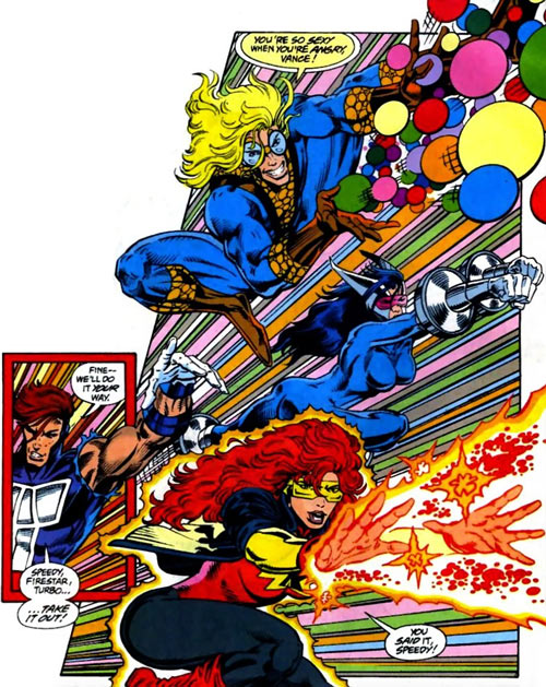 New Warriors team profile #3 - Marvel Comics - on the offensive