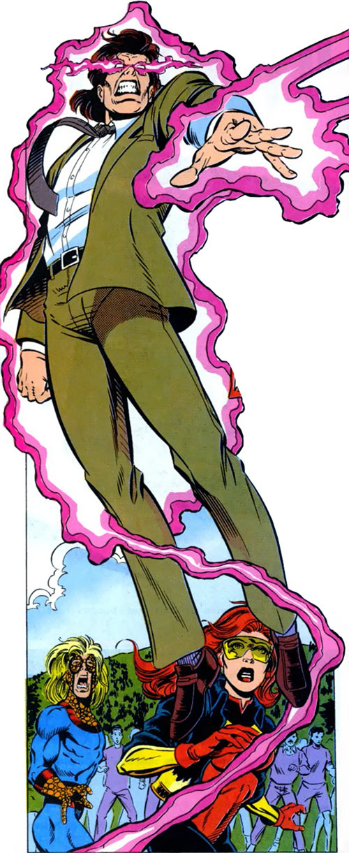 New Warriors team profile #3 - Marvel Comics - Justice angry in civvies