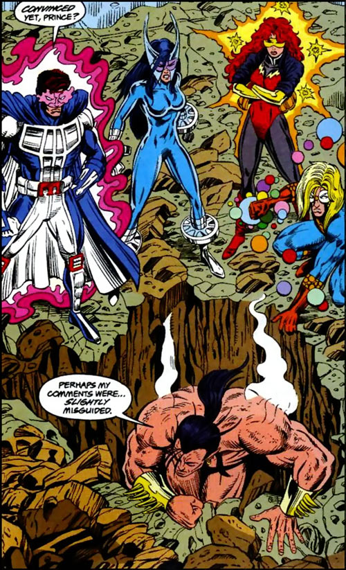 New Warriors team profile #3 - Marvel Comics - vs. Namor
