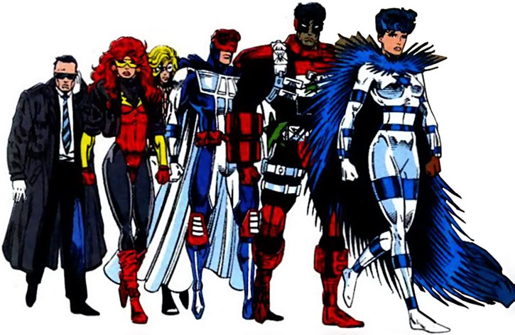 New Warriors team profile #3 - Marvel Comics - With Sabra at the UN