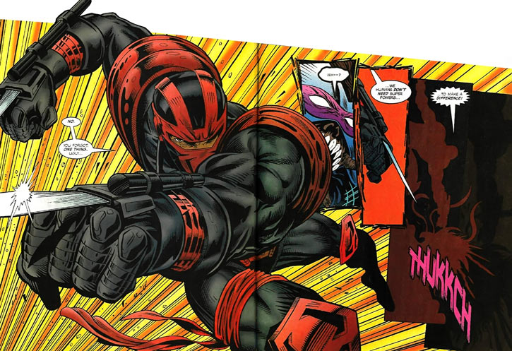 New Warriors team profile #3 - Marvel Comics - Night Thrasher kills Volx