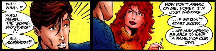 New Warriors team profile #3 - Marvel Comics - Firestar proposing