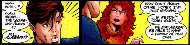 New Warriors team profile #3 - Marvel Comics - Firestar proposing