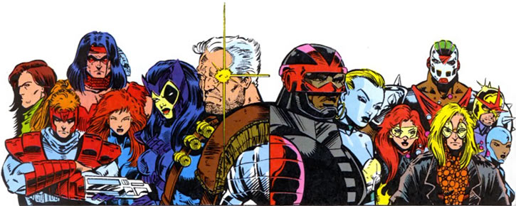 New Warriors team profile #3 - Marvel Comics - and X-Force