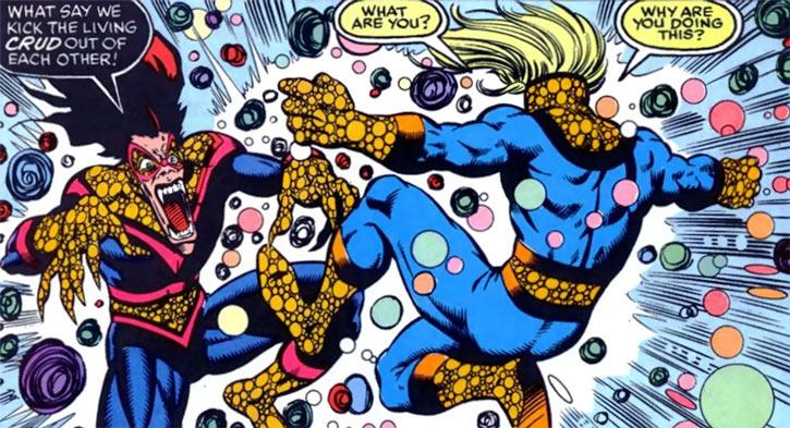 New Warriors (Marvel Comics) (Team Profile #2) Blackball vs Speedball