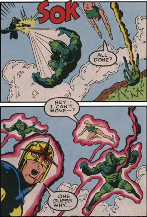 New Warriors (Marvel Comics) (Team Profile #2) Nova and Namorita derailed jaibreak