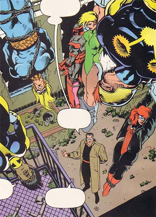 New Warriors (Marvel Comics) (Team Profile #2) prisoners captured