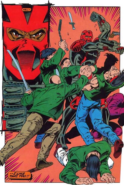 New Warriors (Marvel Comics) (Team Profile #2) Night Thrasher vs. Poison Memories gang